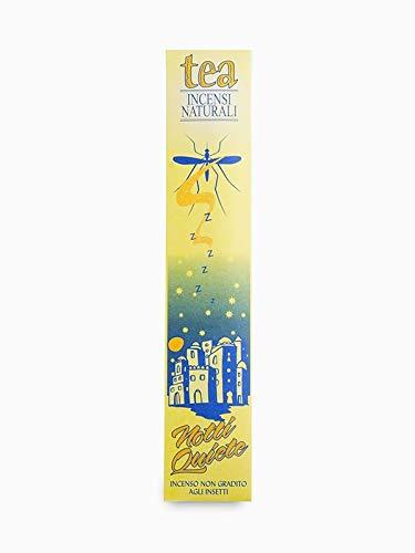 TEA NATURA - Noches tranquilas - Incienso natural contra mosquitos con aceites esenciales - 100% natural y vegano - Repelente pero no letal para insectos - 12 barras