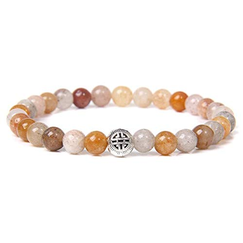 19 estilos de piedra natural orita malaquita lapislázuli perlas pulsera redonda bola encanto pulsera para mujeres hombres joyería