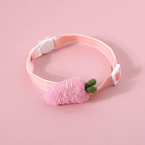 hetang Collar para mascotas con lazo de encaje ajustable para gatos, pajarita de seguridad rosa para cachorros Chihuahua conejos (color: 05, tamaño: S 16-32 cm)
