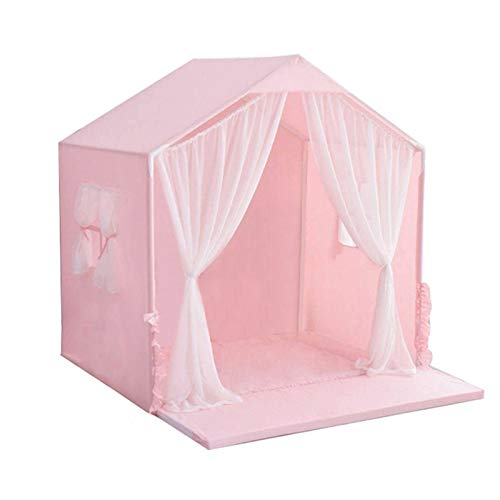 SearchI Tragbares kleines Haustierhaus Hundebett, Indoor Haustierhaus, Hundehütte, Haus für Hunde(rosa,50x45x50cm)