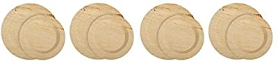 CaterEco Deluxe Round Palm Leaf Plates Set (50 Pack) | (25) Dinner Plates & (25) Salad Plates | Ecofriendly Disposable Dinnerware | Heavy Duty Biodegradable Party Utensils for Wedding