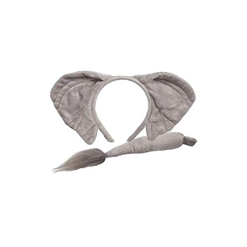 Animal Ears & Tail Set Elephant Adult Fancy Dress Accessory