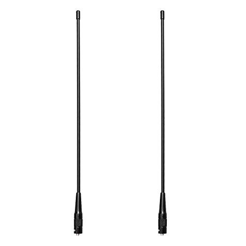 Retevis RHD771 Walkie Talkie Antena SMA-F Banda Dual VHF/UHF 144/430MHz Compatible con Walkie Talkie Retevis RT5R RT5 RT5RV RT7 RT21 Baofeng UV-5R UV-5RA UV-5RB UV-5RC BF-888S(2 Pacs)
