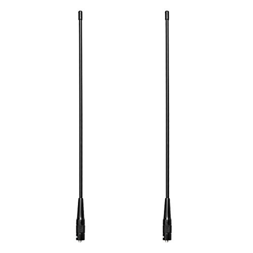 Retevis RHD771 Funkgerät Antenne SMA-F 15,4-Zoll Dual Band UHF/VHF Kompatibel mit Walkie Talkie Retevis H777 RT5 RT5R RT5RV Baofeng UV-5R PLUS BF-888s GT3-TP Kenwood HYT LINTON WOUXUN (2 Stk.)