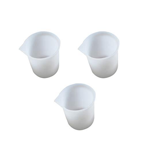 Artibetter tasses à mesurer en silicone tasses à mélanger en silicone pour moules de coulée de résine époxy 3pcs
