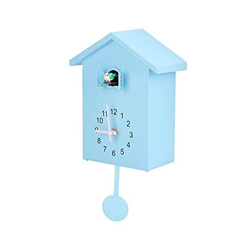 HERCHR Reloj de Pared de Cuco, pequeño Reloj Cuco de Pared con Sonidos, decoración de Pared de Oficina de Sala de Estar casera Moderna