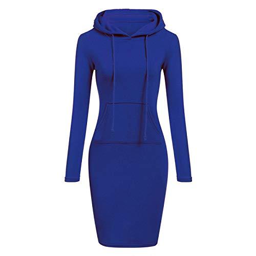 Jersey Suéter Sweater Vestidos De Gran Tamaño, Suéter Largo para Mujer, Medio Alto, Otoño Invierno, Vestido De Suéter Recto, Vestido Informal para Mujer, Tejido Suelto, Vetement L Azul