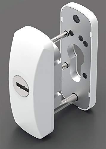 LINCE Scutum-houder-wit met hoge bescherming voor metalen deur, 0