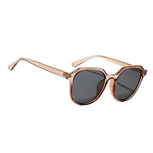 harayaa Gafas de Sol con Montura Cuadrada Vintage Sombras Anti UV Party Eyewear Streetwear - Rosado
