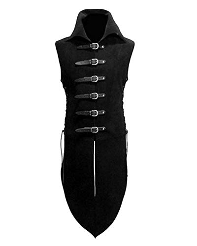 mens medieval leather buckle costume