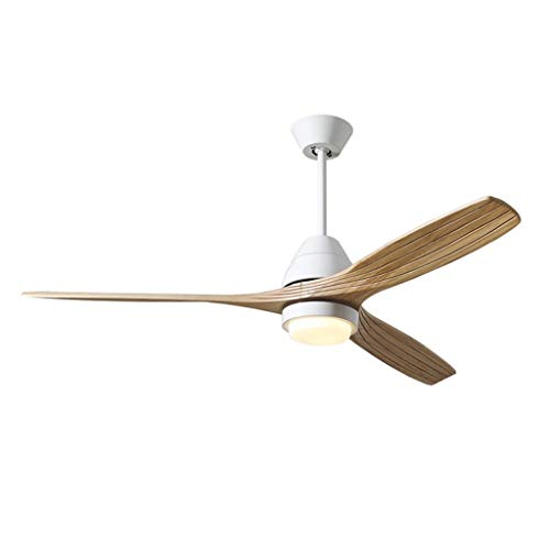 WDX- ventilador de techo luz 132 cm conversión frecuencia ventilador de techo luz restaurante hogar salón madera sólida ventilador luz control remoto durable