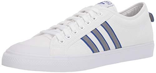 adidas Originals Men's Nizza Sneaker, White, 14