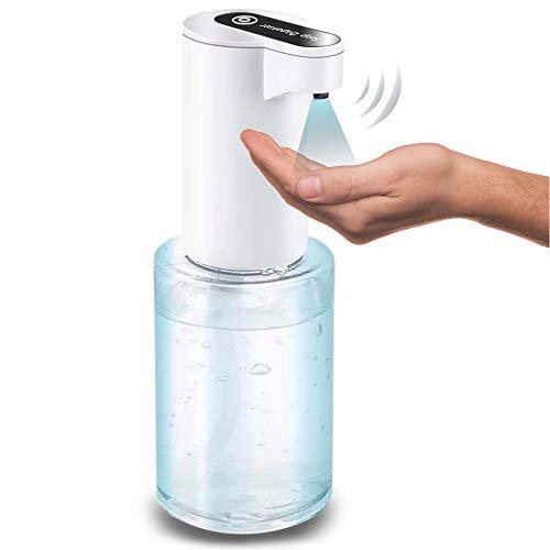 【2021 New Version】 Automatic Sanitizer Gel Dispenser,Automatic Hand Sanitizer Dispenser,Touchless soap Dispenser 12 OZ (350 ml),Suitable for Hand Gel Entrance,CAR,Cafe,Home - 4 Battery [NOT Included]