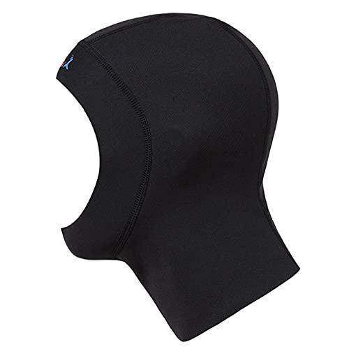 iiniim Capucha de Buceo de Neopreno de 1 mm Unisex con ventilación de Flujo Gorra de Surf Trajes de Neopreno Gorra para Snorkel y Otros Deportes Acuáticos Color Negro Negro S