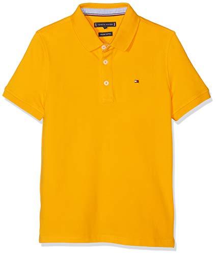 Tommy Hilfiger Jungen Essential Tommy REG Polo S/S Poloshirt, Gelb (Radiant Yellow 720), 116 (Herstellergröße: 6)