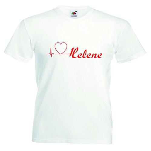 Helene Damen T-Shirt Motiv11 - Damen - Weiss - XS