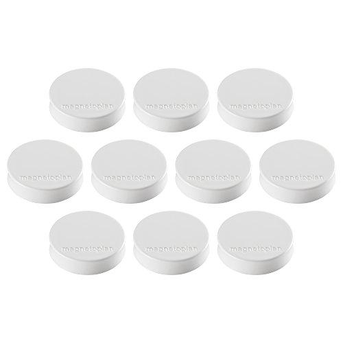 Ergo Magnete Medium, Durchmesser 30 x 8 mm, 10 Stück, weiß