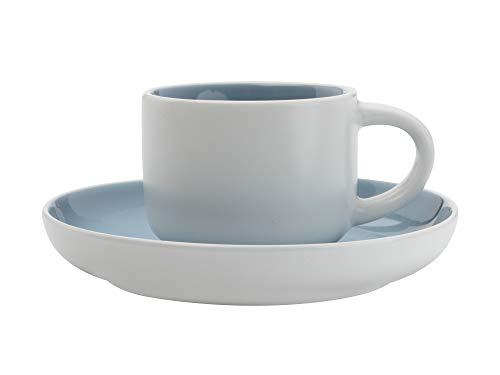 Maxwell Williams Tint Espressotasse und Untertasse in Geschenkbox, Porzellan, 100 ml, Wolkenblau, Espresso Size