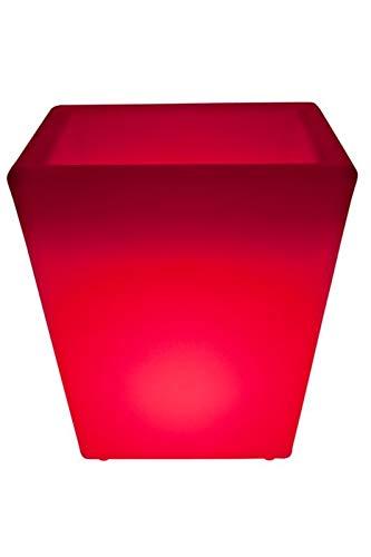 Luminatos Pot-Q, LED bloempot ijsemmer verlicht met afstandsbediening 16 kleuren