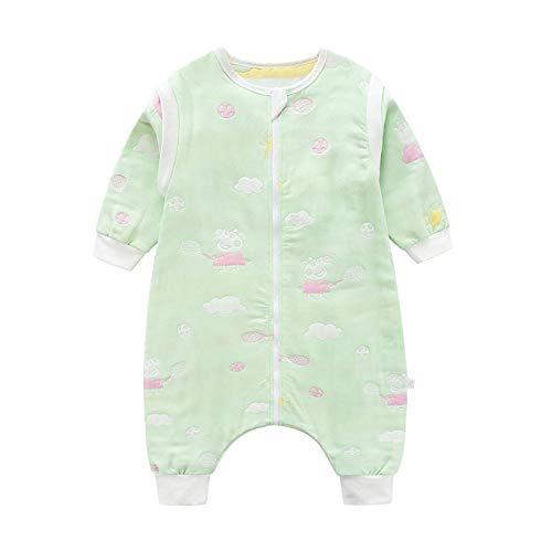 QFYD FDEYL Saco de Dormir para Bebé,Saco de Dormir para bebé, edredón a Prueba de niños-Green Piglet_100 Yardas,Saco de Dormir de Punto Felpa