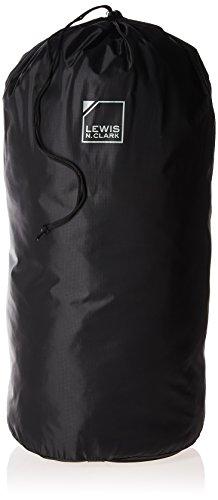 Lewis N. Clark Lightweight Water Resistant Nylon Drawstring Stuff Sack for Sleeping Bag, Backpacking, Camping, Hiking & Outdoors, Black, 30×13