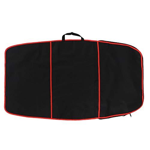 Jadeshay Surfbrett-Tasche, Bodyboard-Abdeckung, Polyester-Tragetasche, Surf-Zubehör (gelbe Streifen, rote Streifen, blaue Streifen) (Farbe: rote Streifen)