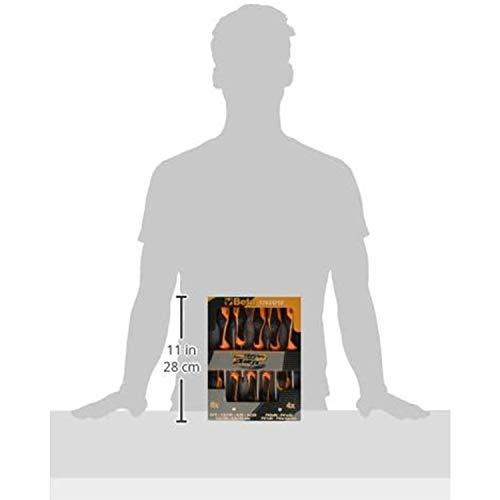 BETA 1263/D10 Schraubendrehersatz Schraubenzieher-Set (10-teiliger Schraubendreher-Satz mit Grip, Schlitz und Kreuzschlitz, verschiedene Klingen-Länge, höchst widerstandsfähig, Made in Italy) - 3