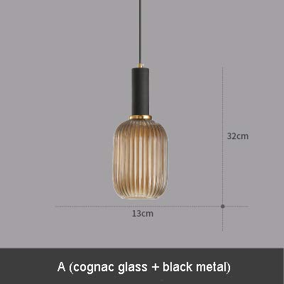 5151BuyWorld lamp geribbeld glas moderne hanglamp startskant rook groen eetkamer restaurant hotel nachtcafé hanglamp glas cognac {A & A}