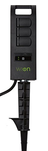 WiOn 50053 Outdoor Wi-Fi Plug-In Yard Stake With Smartphone Or Tablet Automation for up to 12 devices; 3 Grounded Outlets And 6 Foot Cord