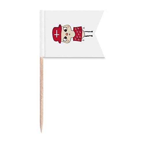 Dänemark Land Europa Kopenhagen Flagge UU Zahnstocher Flaggen Kennzeichnung für Party Kuchen Lebensmittel Käseplatte