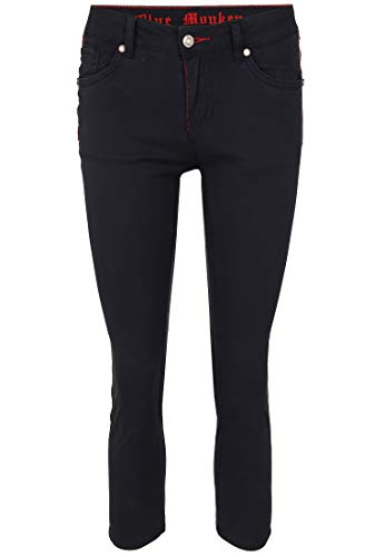 Blue Monkey Damen Jeans Honey 10489 mit Kontrastnähten