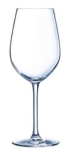 Chef&Sommelier - Collection Séquence - 6 verres à pied de 55 cl en Cristallin - Design Classique, Harmonieux et Élégants - Résistance Hors Norme - Transparence Absolue