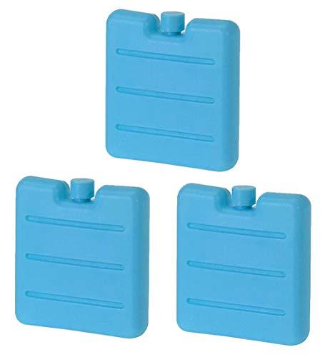 MIK Funshopping Set Mini-Kühlakkus, Kühl-Elemente für die Kühltasche, Kühl-Akku für die Brotdose in 3 Farben (3, Türkis)