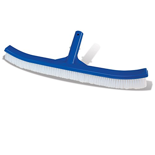 Poolmaster 18100 Essential Collection Curved Back Swimming Pool Brush, 17.5 Inches