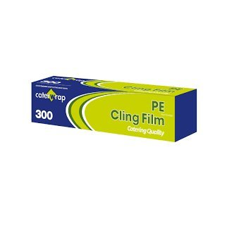 Cling Film Catering Pack Antibacterial 8.5 Microns 300mm x 300 Metres Blue Tint