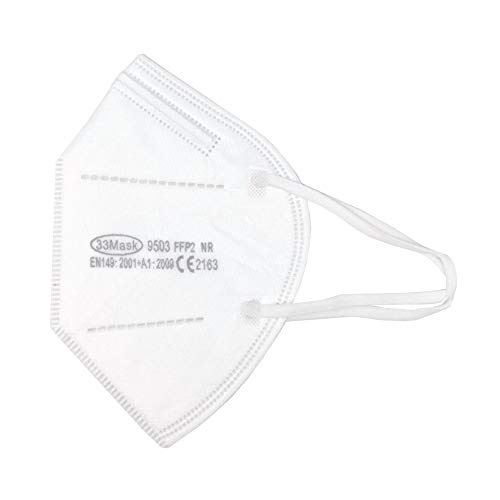 10 Mascherine FFP2 Certificate CE, Mascherina 4 Strati senza Valvola, Maschere Facciali di Protezione, Maschera Protettiva con Filtraggio BFE≥95, Busta da 10 Pezzi
