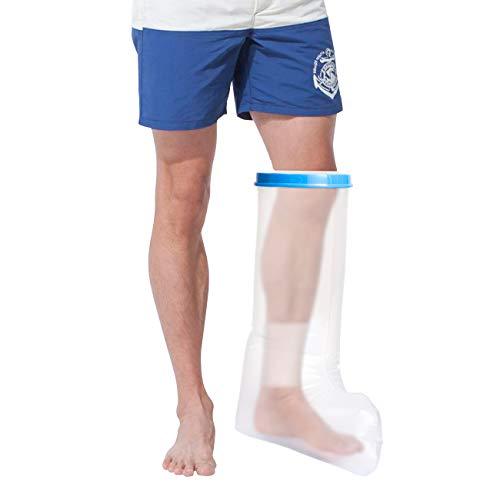 LIHAO Wasserdichter Gipsschutz Duschschutz Verbandschutz fuß Bein für Bad oder Dusche Erwachsene, 65 x 43cm (MEHRWEG)
