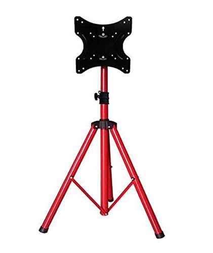 TabloKanvas Trípode de TV Soporte de TV de Piso Soporte de Exhibición de Carro de TV LCD Plegable Móvil (Color : Red)