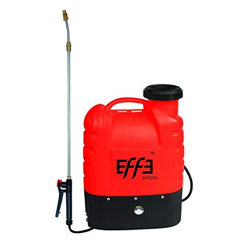 EFFE Pompa a Spalla Irroratrice a Batteria LT.16 Batteria a Litio 12V 8AH | Peso Totale Pompa 3,7kg | Pompa spruzzatrice a Litio irrigazione Giardino