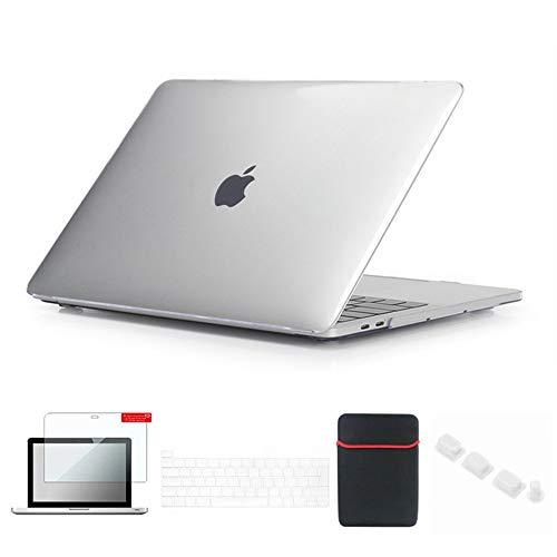 Se7enline Funda transparente para MacBook Pro 13 2020/2019/2018/2017/2016 para MacBook Pro 13'' modelo A2251/A2289/A1989/A2159 con funda, protector de pantalla, tapón antipolvo y transparente