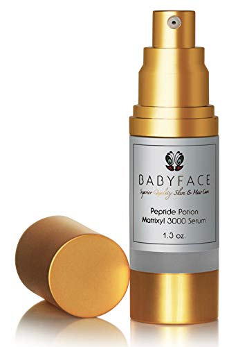 Babyface Peptide Potion Matrixyl 3000 Serum, Strong Firming Wrinkle Cream, Anti-Aging, Tightening and Toning, 1.3 oz.