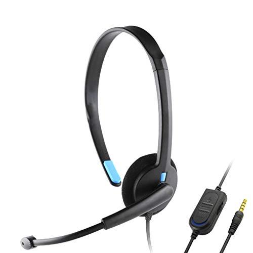 Hotaluyt Reemplazo para Playstation 4 PS4 X-One sobre-Oído Auricular Atado con Alambre Auriculares Gaming Headset PC Juego del Videojugador
