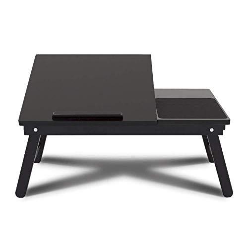 LF- Bureau d'ordinateur Pliant lit avec Bureau Portable lit Table Table étudiant Écriture Dortoir Lazy Table Ascenseur Bureau Facile à Ranger (Color : Black, Size : 59 * 35 * 23cm)