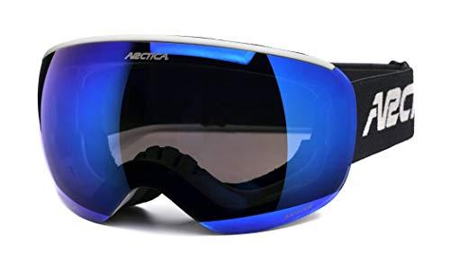 Arctica - Gafas de esquí para niños y snowboard (sistema de doble lente, compatible con casco), rojo