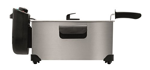 Flama 636FL Singolo Indipendente 3L 2200W Nero, Acciaio inossidabile fryer