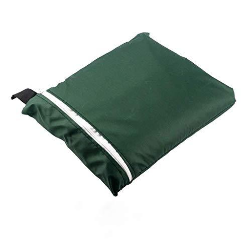 DIPOLA Schutzhülle für Klappstuhl Liegestuhl Sonnenliege Deckchair Abdeckung Wasserdicht Anti-UV Gartenmöbel Schutz vor Wettereinflüssen und Beschädigungen 210D Oxford 110cmX71cm (Green)