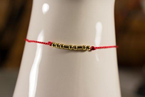 Ich liebe Dich im Morsecode in vergoldetem 925er Silber und Seide