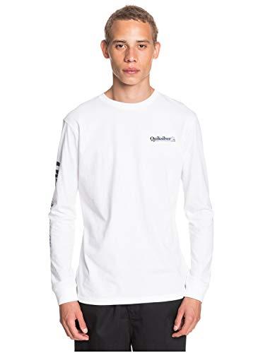 Quiksilver Check Yo Self - Camiseta De Manga Larga para Hombre Camiseta De Manga Larga, Hombre, White, L