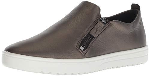 ECCO Women's Fara Slip-On Sneaker, Black Stone Metallic, 41 M EU (10-10.5 US)