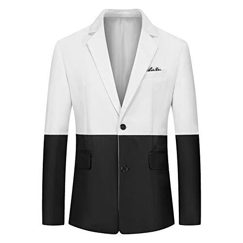 YFFUSHI MENS 캐주얼 슈트 블레이저 자켓 2 버튼 클래식 맞는 매일 스포츠 코트